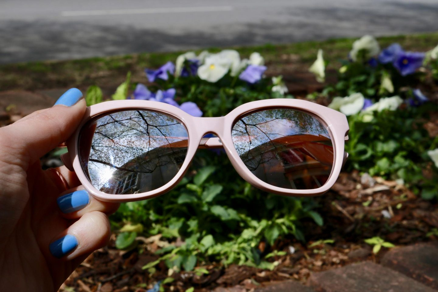 Blush sunglasses