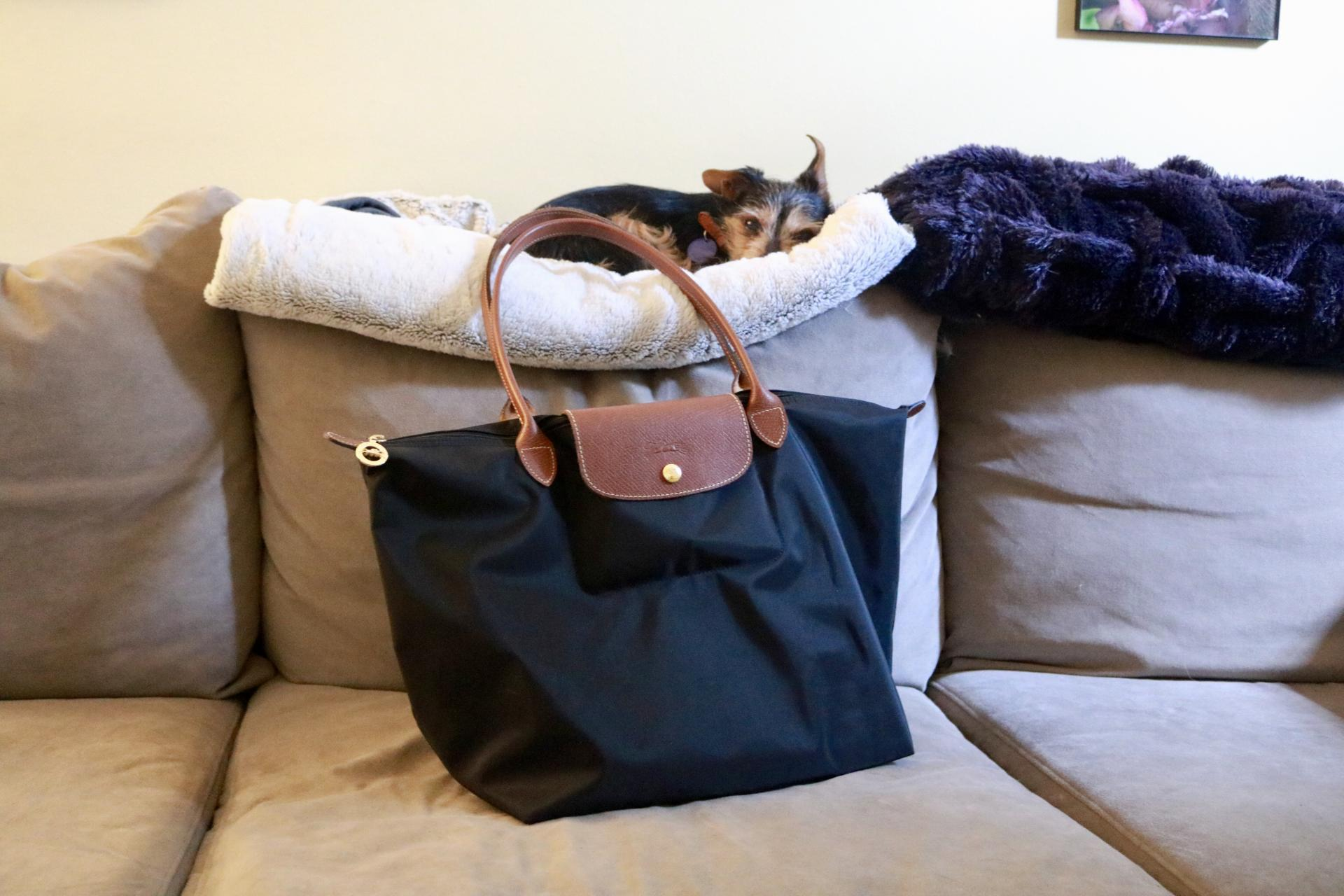 3bc2db769f What's In My Work Bag: Longchamp Le Pliage | Katie Actually - Katie ...