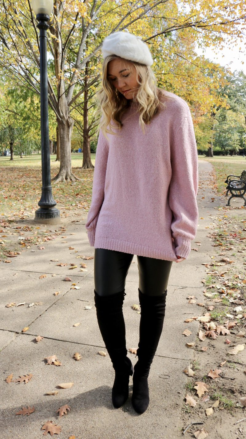 One Easy Way to Style Over-the-Knee Boots | Katie Actually